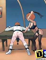 George Jetson trata de sexo BDSM. Los Supersónicos mostrando sus sexperiments BDSM Kinky