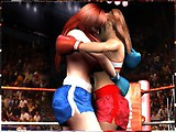 You are controlling one girl in a game of boxing. Simply click on the part of your opponent that you want to attack.