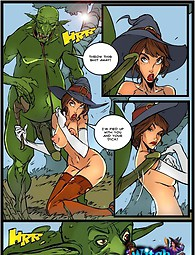 Rebellious witch gets fucked in the ass - adult comics