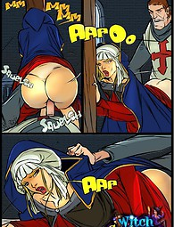 Crusader's cock in witch's twat sex comics
