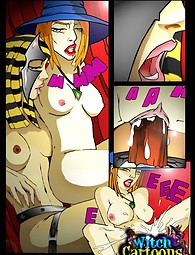 Egyptian lesbian sex magic in adult comics