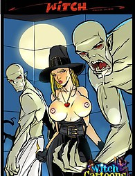 Ghouls make witch eat cum adult comics