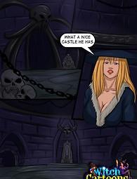Witch's holes get a merciless workout - xxx comics