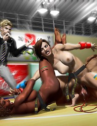 Incredible outdoor gang bang pictures in 3D