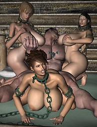 Brutal group forced sex with chained babes