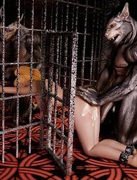 Horny beasts fuck imprisoned beauties