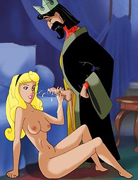 Enjoy the sex action in the castle - the King fucks a blonde young girl, who gives him an awesome blowjob.