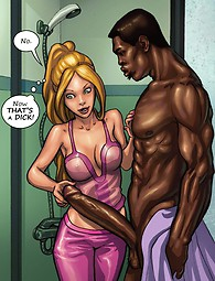Hot MILF und junge Schlampe interracial in Comics