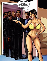 Steaming hot interracial comics about white woman who craves black men.